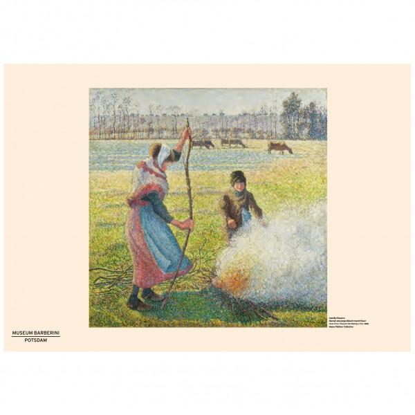 PST 56 Pissarro Bäuerin Feuer Verkaufsplakat