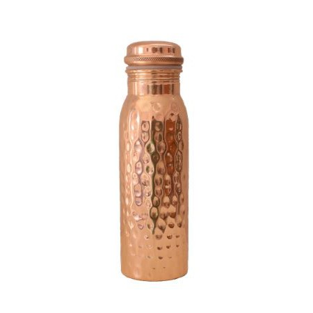 water bottle . FORREST & LOVE . copper, hammered . 600ml
