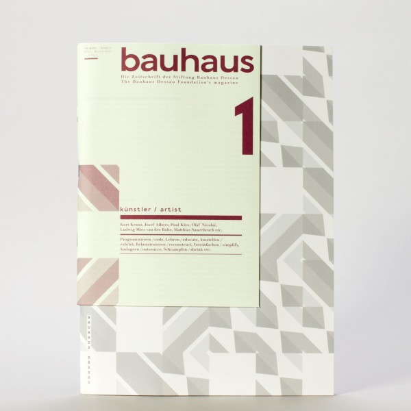 KÜNSTLER . Bauhaus Zeitschrift Nr. 1