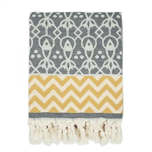hamam towel. MAHI . grey