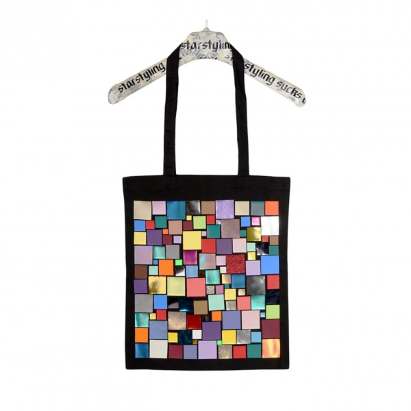 Tote bag . MOSAIC . Black