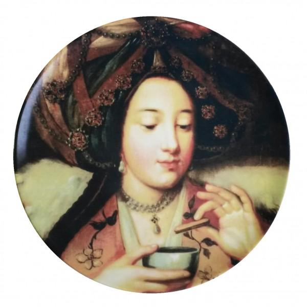porcelaine plate . OTTOMAN WOMEN . (08) . 28 cm