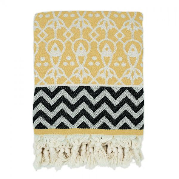 hamam towel . MAHI . mustard