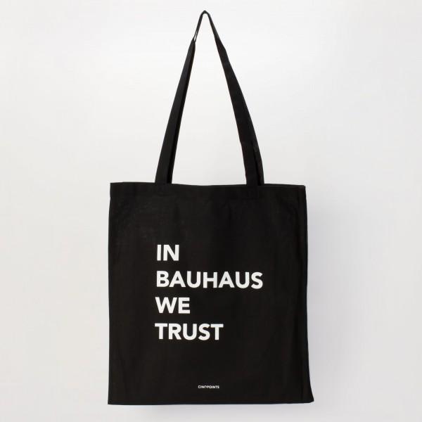 cotton bag . IN BAUHAUS WE TRUST . CINQPOINTS