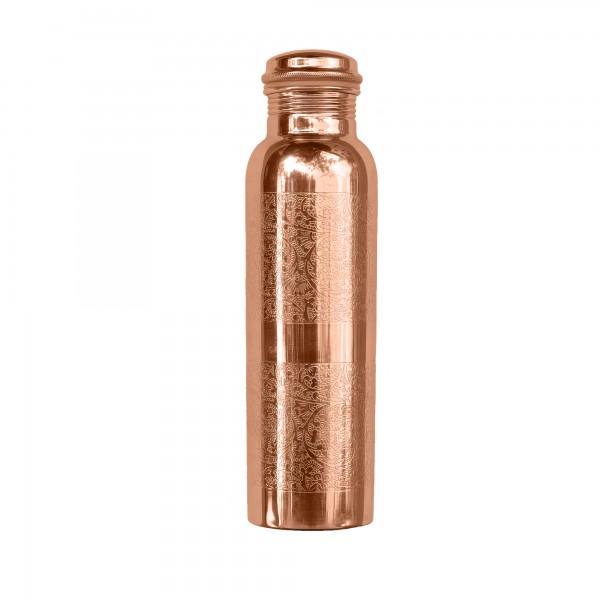 water bottle. FORREST & LOVE . copper, engraved . 900ml