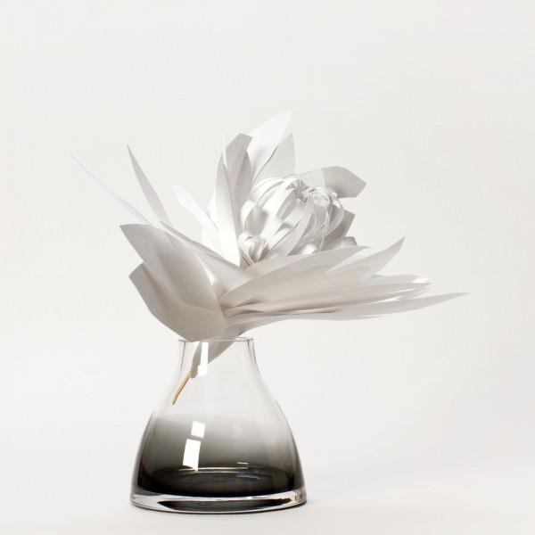 FLOWER VASE . GREY