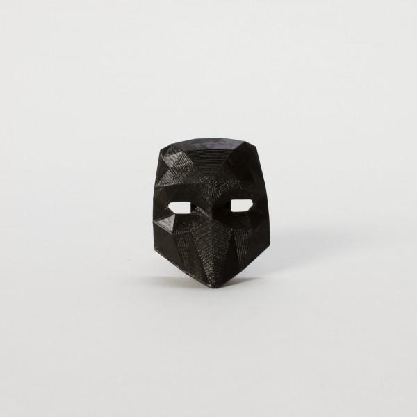 BAUTA . Brosche . schwarz