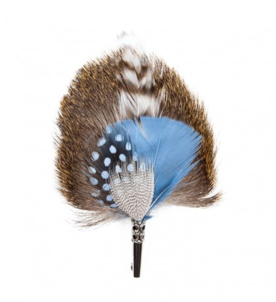 feather brooch . DROP