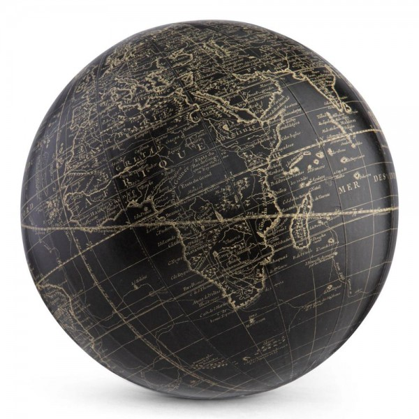 Globus . VAUGONDY . schwarz, 18 cm